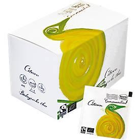 Peeze thee Communitea Kandy citroen, Fairtrade en biologisch, doos van 20 zakjes