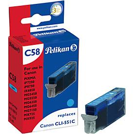 Pelikan Tintenpatrone baugleich mit CLI-551XL C, cyan