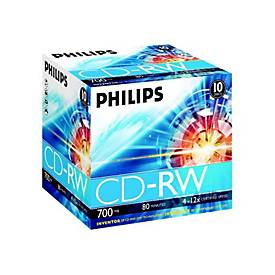 Philips CW7D2NJ10 - CD-RW x 10 - 700 MB - Speichermedium