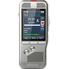 Philips Diktiergerät Digital Pocket Memo DPM 8200 Dig, 3D-Mikrofon, für Profis