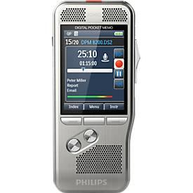 Philips Diktiergerät Pocket Memo PSE8000, für professionelle Anwendungen, 6 Sprachen