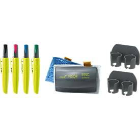 Pica VISOR Board-Set Quattro 4 Marker + Magnethalterung + Profi Wischer SET