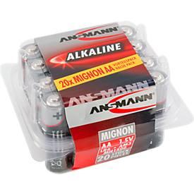 piles alcalines, Mignon AA/LR6, 1,5 V, 20 pièces