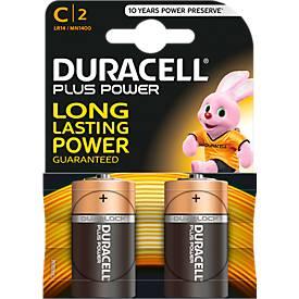 Piles DURACELL Plus, Baby C 1,5 V, 2 unités