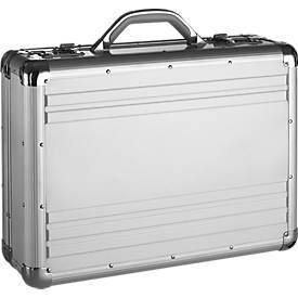 Pilotenkoffer, aus Aluminium, silber