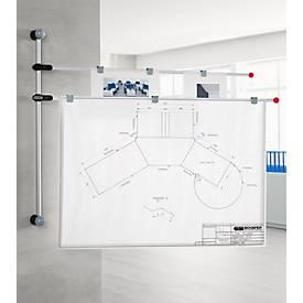Planhalter Wand, lichtgrau