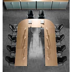 Planova Basic Besprechungstisch Grundelement, Quadrat, 800 x 800 mm