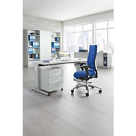 Planova Basic Schreibtisch 1600 x 800 mm + Rolly 333 SET