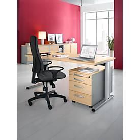 Planova Basic Schreibtisch B 1600 + Rollcontainer 1233 SET
