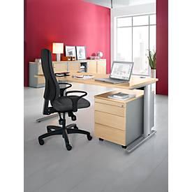 Planova Basic Schreibtisch und Rollcontainer 1233