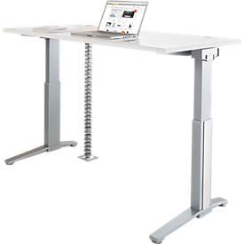 PLANOVA ERGOSTYLE Schreibtisch, elektr. höhenverstellbar + Akzentset + Kabelschlange GRATIS