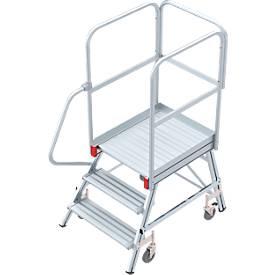 Plateforme mobile en aluminium, accessible d'1 côté