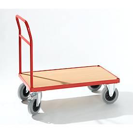 Plattformwagen mit Schiebegriff, 900 x 500 mm