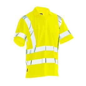 Image of Poloshirt Jobman 5583 PRACTICAL Spun Dye Hi-Vis, EN ISO 20471 Klasse 2/3, PSA 2, gelb, Größe XL