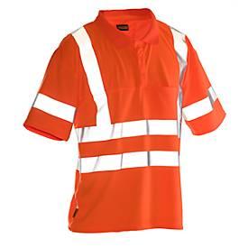 Image of Poloshirt Jobman 5592 PRACTICAL Hi-Vis, 6 Reflektonsstreifen, EN ISO 20471 Klasse 2/3, PSA 2, orange, Größe XS