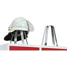 Porte-casque pour armoire de pompier