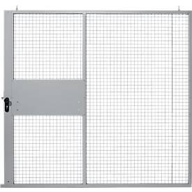 Porte coulissante, pour système de cloisonnement grillagé, l 2238 x H 2110 mm