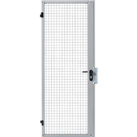 Portes à battant simple, pour système de cloisonnement grillagé, l 850 ou 1000 mm, gonds