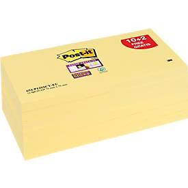 Post-it® Haftnotizen Super Sticky Notes, 12 Blöcke, 76 x 76 mm