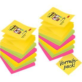 Post-it® Haftnotizen Super Sticky Z-Notes, 12 Blöcke, 76 x 76 mm