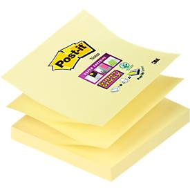 POST-IT Haftnotizen Super sticky Z-Notes, 76 mm x76 mm, gelb