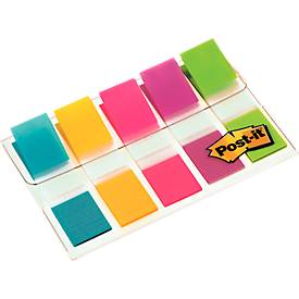 Post- it® Index Smal 683-5, 5 x 20 mm, zeegroen, geel, pink, lila, citroengeel