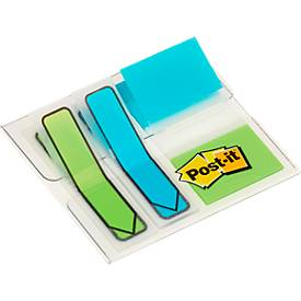 Post- it®  multipack: 2x index Pijlen 680 en 1x index standaard 684, limoen/turkoois, set