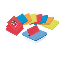 POST-IT zelfklevende notitieblaadjes Z-Notes super sticky + dispenser GRATIS