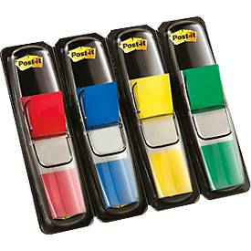 Post- it® Bandes signalétiques Index mini 683-4, rouge, jaune, bleu, vert
