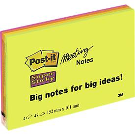 Post-It® Meeting Notes, format XXL