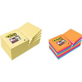 Post-it® Super Sticky Notes, 12 Blöcke + 12 Blöcke GRATIS