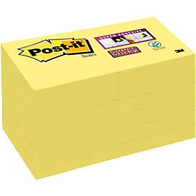 Post-it® Super Sticky Notes, jaune canari