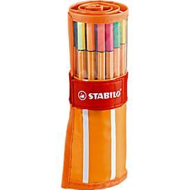 PoSTABILO® Fineliner Point 88, in rolset, 30 stuks, diverse kleuren