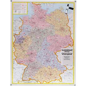 Postcodekaart Duitsland, magnetisch bord
