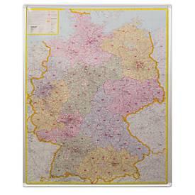 Postcodekaart Duitsland, prikbord