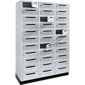 Postfach-/Verteiler-Schrank, 3 x 11 Fächer