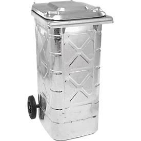 Poubelle 240 litres, galvanisée