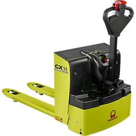 Pramac elektrische pallettruck CX 14, max. belasting 1400 kg, vorklengte 1000 mm, max. belasting 1400 kg.