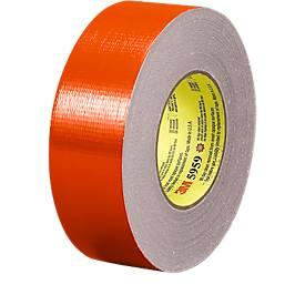 Premium weefselband, 50 mm x 22,8 m, rood