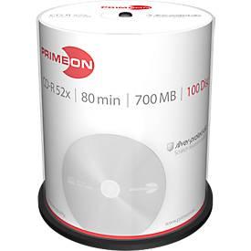 PRIMEON CD-R, bis 52fach, 700 MB/80 min, 100er-Spindel