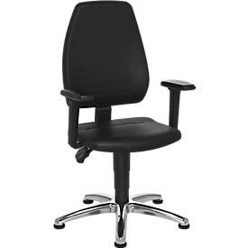 Pro Industrie werkstoel, met glijders