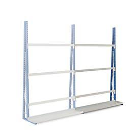 Profiel-magazijnrek, aanbouwsectie, enkelzijdig, 2500x1500x340 mm
