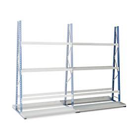 Profiel-magazijnstelling, aanbouwsectie, dubbelzijdig, 3000x1500x600 mm