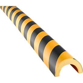 Profilé d'avertissement Type 350, mousse polyuréthane, jaune/noir, longueur 1 mètre