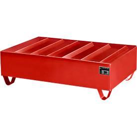 Profilwanne PW gem. StawaR, für 2 Fässer, 224 l, 59 kg, rot