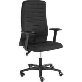 Prosedia Bürostuhl ECCON plus-3, mit Armlehnen, Permanent Kontakt, Flachsitz, 3D-Rückenlehne, schwarz/schwarz