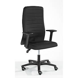 Prosedia Bürostuhl ECCON plus-3, Permanentkontakt, mit Armlehnen, Formschaumrücken mit Lordosenstütze, Flachsitz