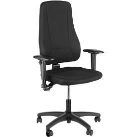 Prosedia Bürostuhl YOUNICO PLUS 3, Permanentkontakt, ohne Armlehnen, hohe 3D-Rückenlehne, blau