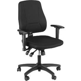 Prosedia Bürostuhl YOUNICO plus 8, halbhohe Rückenlehne, ohne Armlehnen, schwarz