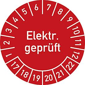 Prüfplakette, Elektr. geprüft (2017-2022)